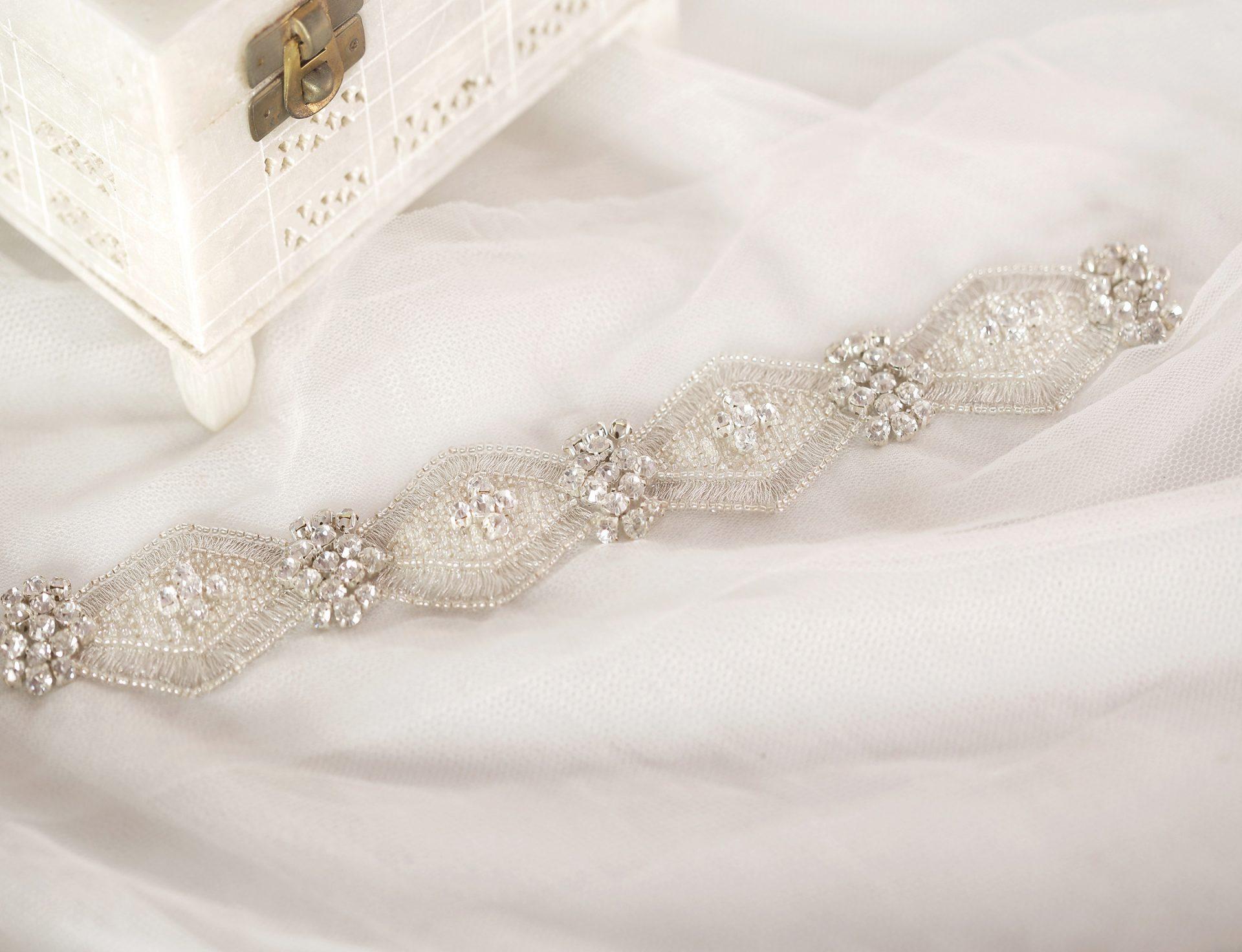 Elegant Crystal Trim | Diamond Hand Beaded Trim