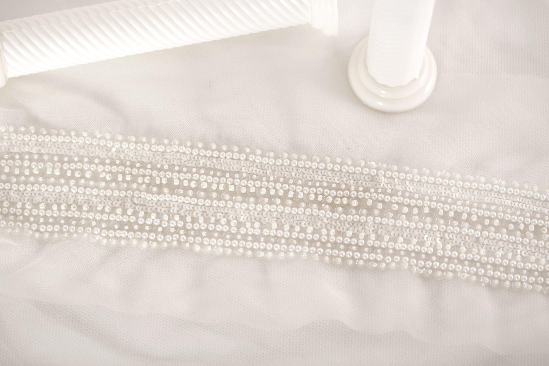 Elegant Bridal | Pearl Sky | Pearl Wedding Dress Trim