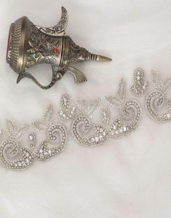 Bridal Couture | Paisley Crystal Bridal Belt | Bridal Trim