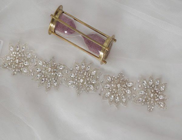 Rhinestone Belt Prom Dress | Starshine Handmade Applique Trim