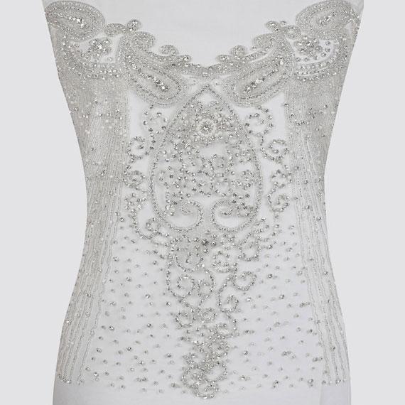 Dance Costume | Queen of Hearts | Crystal Corset Wedding Applique
