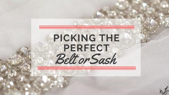 Crystal appliqué for bridal sash